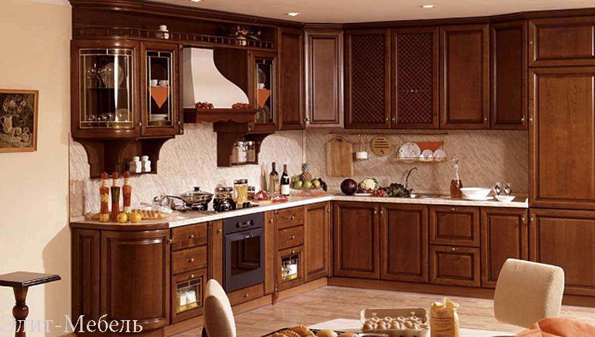 кухни из массива шпон