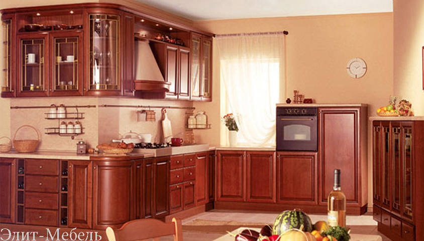 кухни из массива дуба