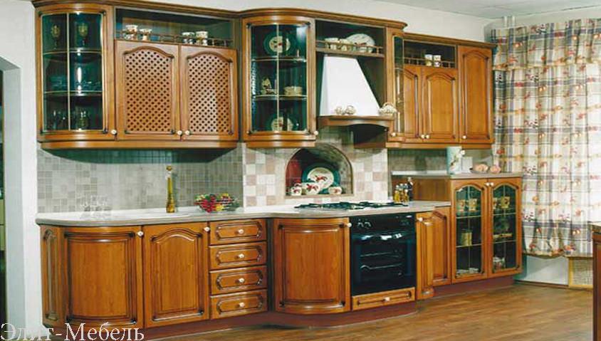 кухни из массива угловые